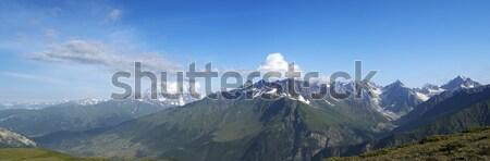 Panorama cáucaso montanas verano Georgia hierba Foto stock © BSANI
