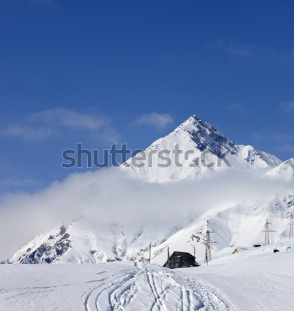 Winter resort in Caucasus Mountains Stock photo © BSANI