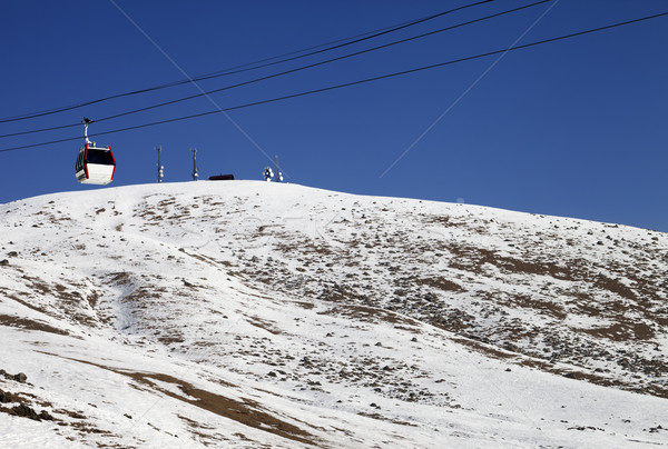 Gondola lifts and slope with stones Stock photo © BSANI