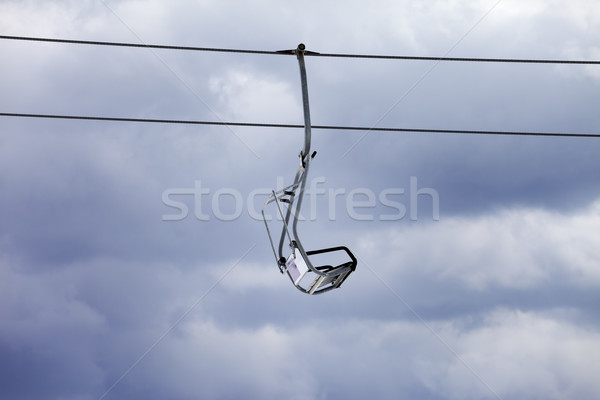 Chair-lift and overcast gray sky Stock photo © BSANI