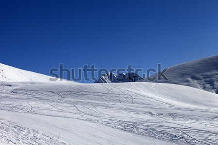 Ski slope in sun morning Stock photo © BSANI