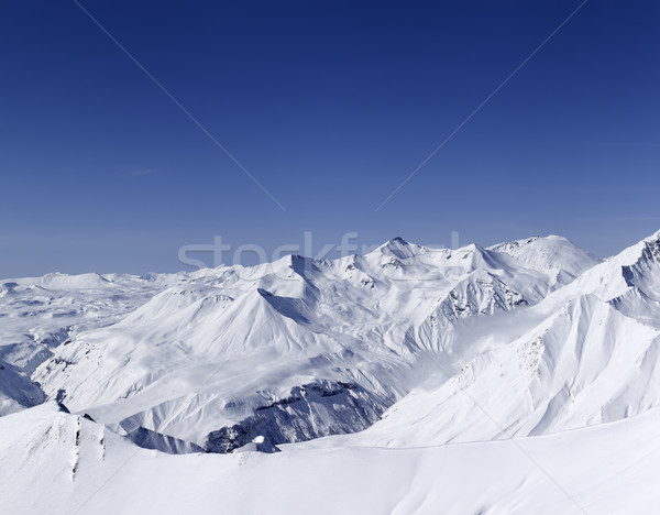 Panorama of snowy mountains. Caucasus Mountains, Georgia. Stock photo © BSANI