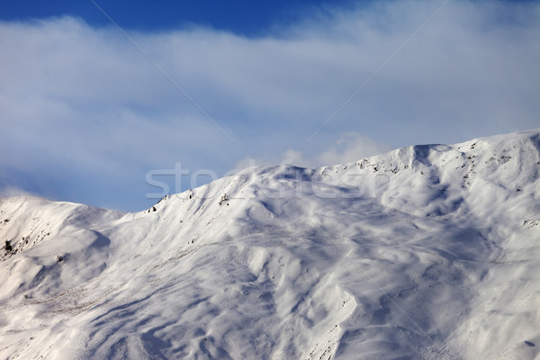 View on off-piste slope in wind morning Stock photo © BSANI