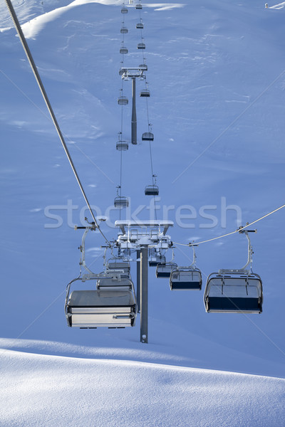 Chair-lift at early morning Stock photo © BSANI