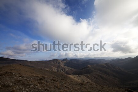Mountains and blue sky with clouds Stock photo © BSANI