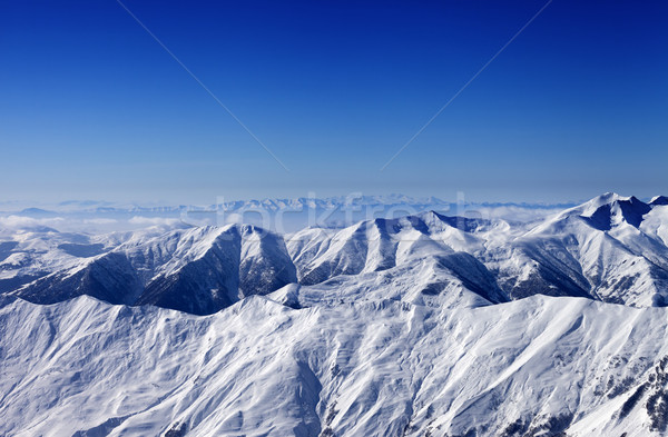 View on off-piste slope at sun day Stock photo © BSANI