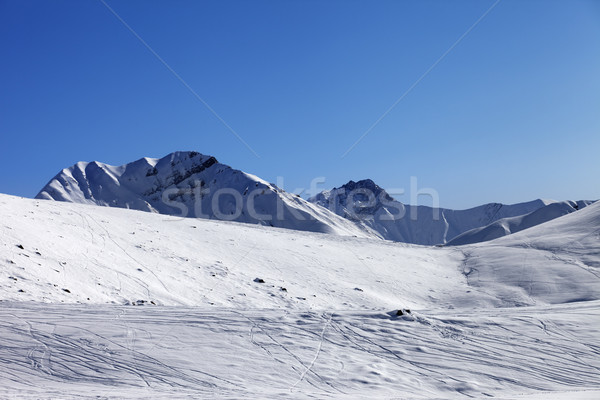 Off piste slope at nice sunny morning Stock photo © BSANI