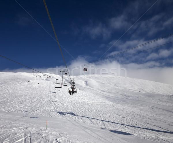 Gondol sandalye asansör Kayak başvurmak güzel Stok fotoğraf © BSANI