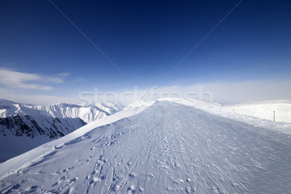 Ski resort in nice day Stock photo © BSANI
