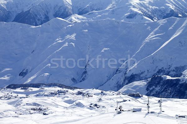 Top view on ski resort Stock photo © BSANI