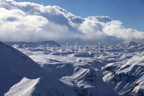 снега плато облака Кавказ гор Грузия Сток-фото © BSANI