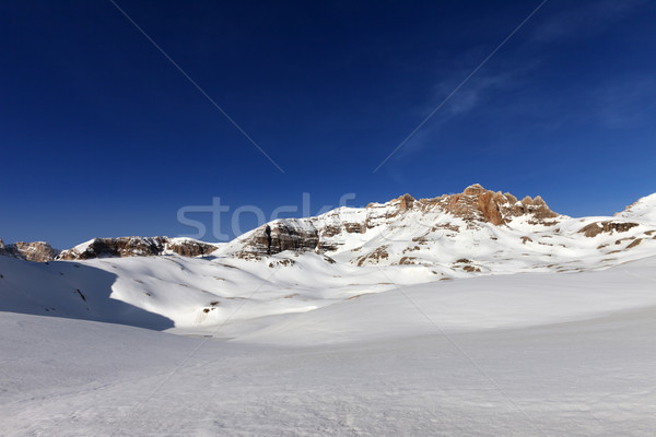 снега плато Blue Sky Солнечный весны день Сток-фото © BSANI