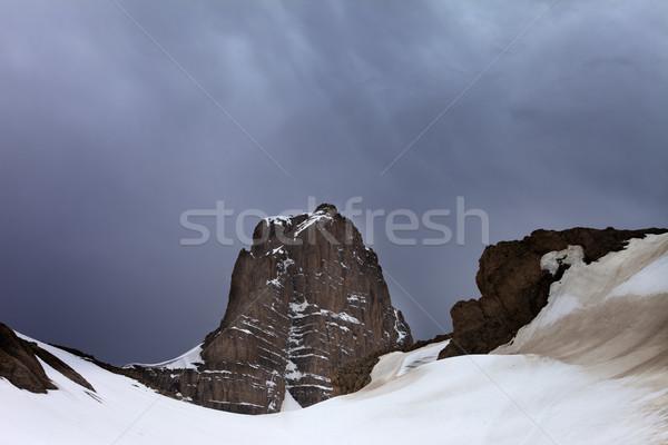 Rocas nubes de tormenta Turquía central montanas meseta Foto stock © BSANI