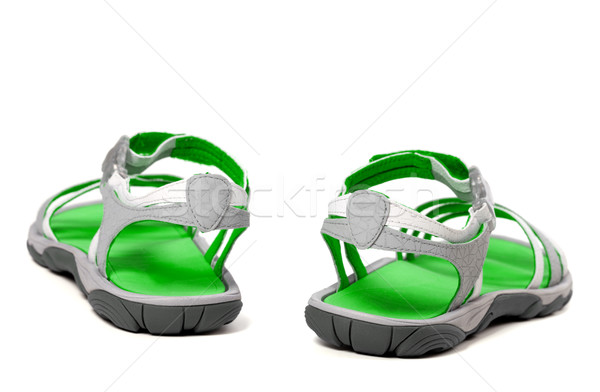 Stock photo: Summer sandals. Back view.