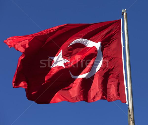 Turco bandeira vento Foto stock © BSANI