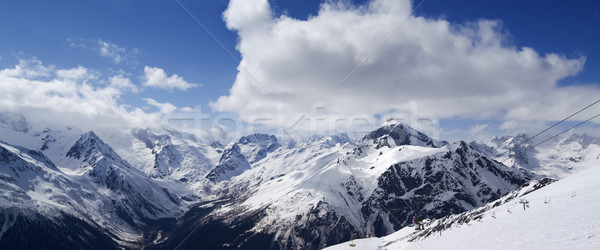 Panoramic view. Ski resort. Stock photo © BSANI