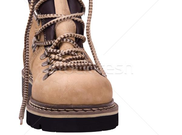 Hiking boot isolated on white background Stock photo © BSANI