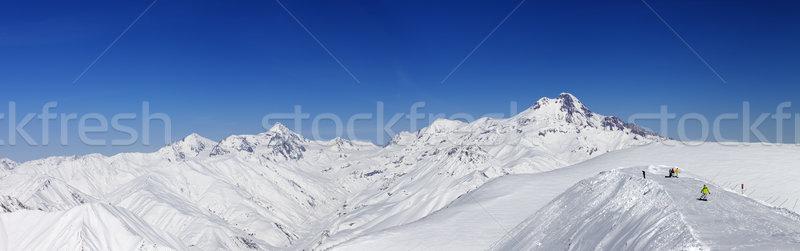 Photo stock: Panoramique · caucase · montagnes · Géorgie · ski · Resort
