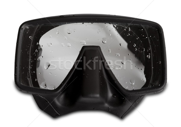Diving mask with water drops Stock photo © BSANI