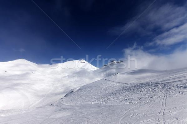 Ski caucase montagnes Géorgie Resort ciel Photo stock © BSANI