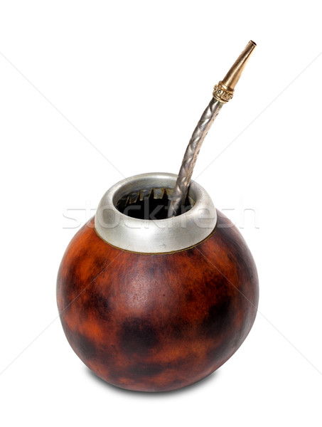 Calabash gourd with bombilla Stock photo © BSANI