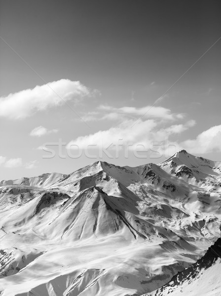 Black and white snowy mountains in nice sun day Stock photo © BSANI