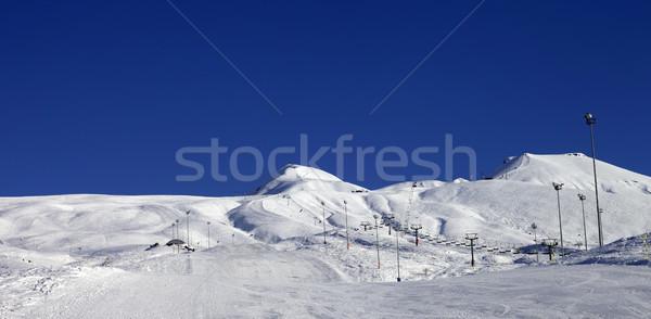 Panoramic view on ski resort at sun day Stock photo © BSANI