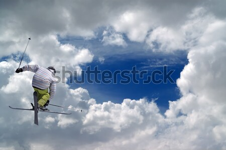 Freestyle ski jumper Stock photo © BSANI