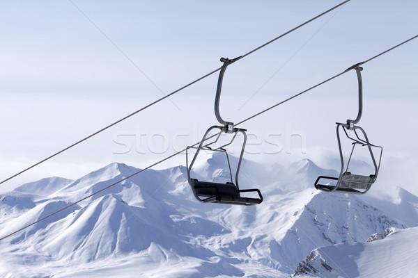 Ropeway at ski resort Stock photo © BSANI