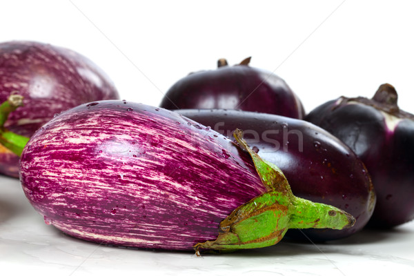 Different varieties of eggplant  Stock photo © BSANI