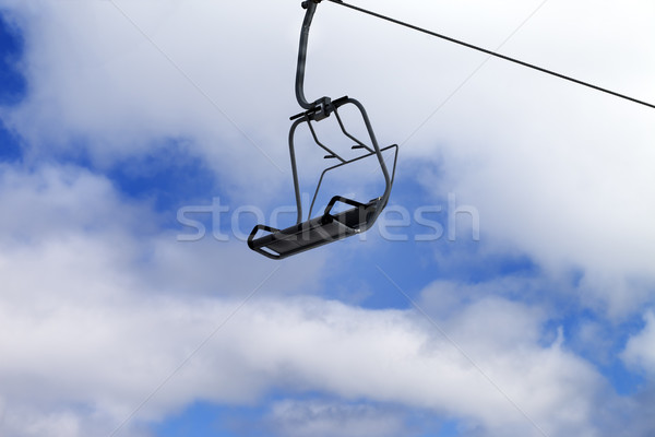 Chair-lift and blue sky with clouds Stock photo © BSANI