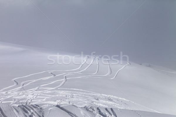 Ski slope in fog Stock photo © BSANI