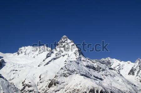 Kaukasus bergen landschap winter Blauw rock Stockfoto © BSANI