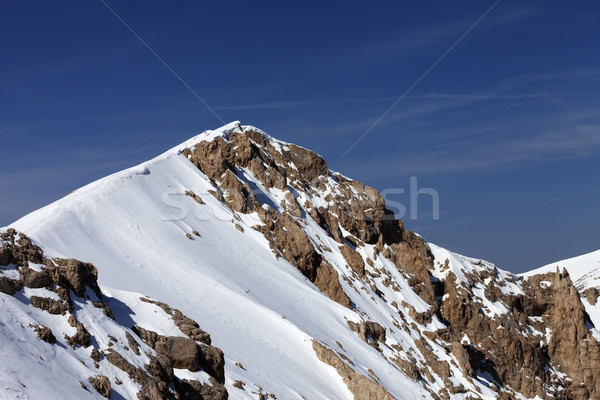 Top of mountains with snow cornice Stock photo © BSANI