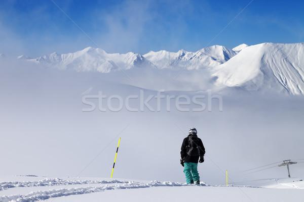 склон новых снега Кавказ гор Сток-фото © BSANI