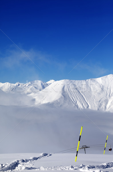 Snowy slope with new fallen snow Stock photo © BSANI