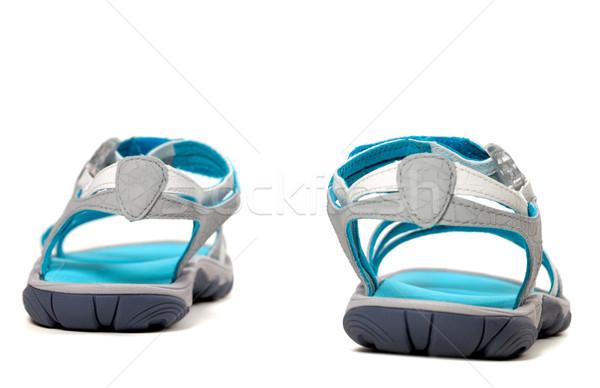 лет сандалии вид сзади изолированный белый пляж Сток-фото © BSANI