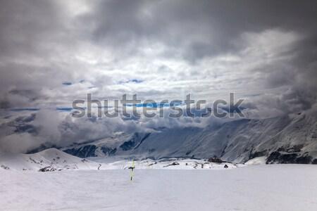 Chuva cáucaso montanhas Geórgia região Foto stock © BSANI