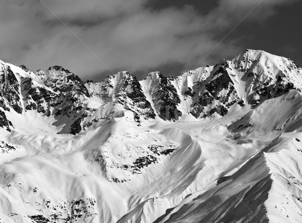 Black and white winter high mountains Stock photo © BSANI