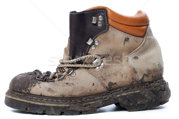 Old dirty hiking boot Stock photo © BSANI