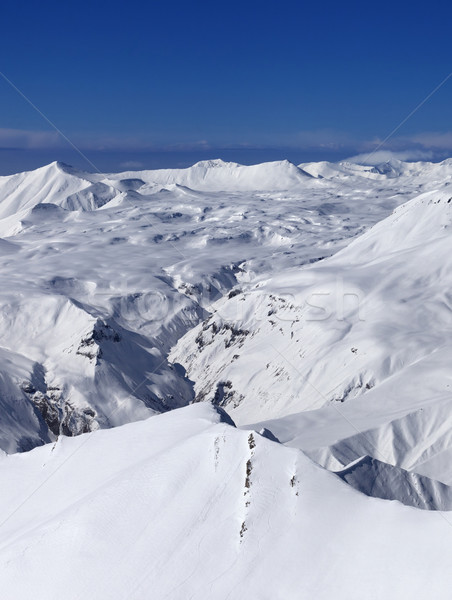 Snowy plateau and off-piste slope Stock photo © BSANI