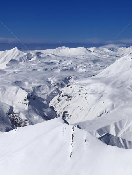 Fennsík emelkedő nap nap Kaukázus hegyek Stock fotó © BSANI