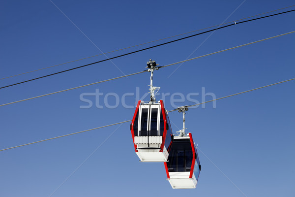 Two gondola lifts close-up view Stock photo © BSANI