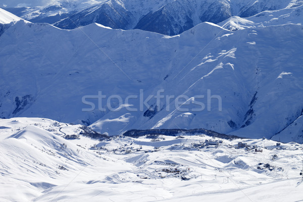 View on ski resort and off-piste slope Stock photo © BSANI