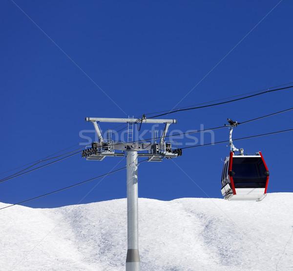 Gondola lift sí üdülőhely szép nap Stock fotó © BSANI