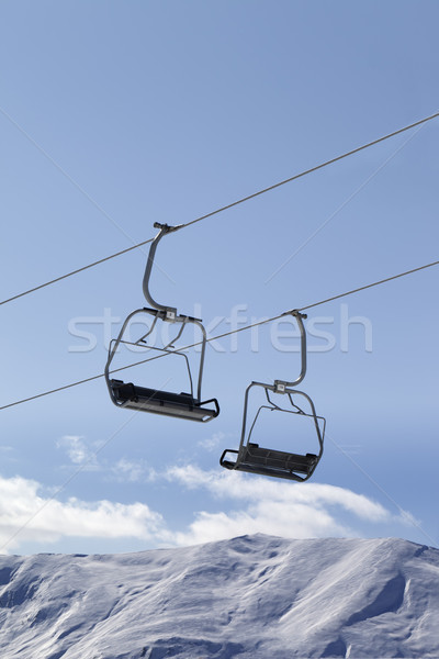 Chair lifts and off piste slope at nice day Stock photo © BSANI