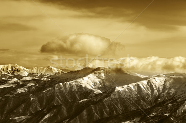 Sepia montanas cáucaso Georgia esquí Resort Foto stock © BSANI
