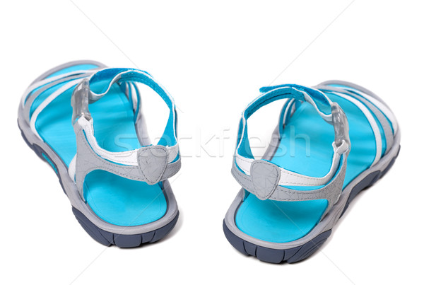 Summer sandals on white background Stock photo © BSANI