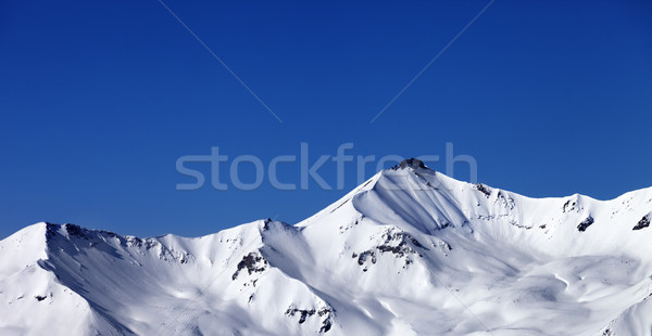 Panoramic view on off-piste snowy slope Stock photo © BSANI