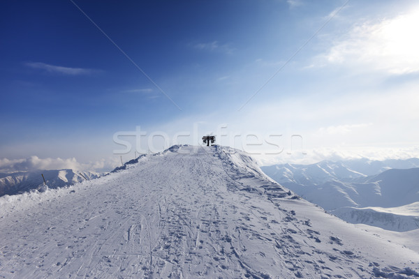 Top station of ropeway Stock photo © BSANI